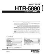 YAMAHA HTR-5890 AV RECEIVER SERVICE REPAIR MANUAL - $7.95