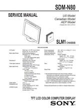 Sony SDM-N80 Lcd Computer Monitor Service Repair Manual - $4.95