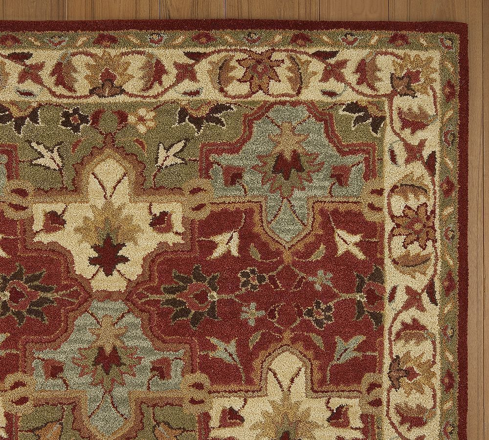 New pottery barn handmade persian cecilia area rug 5x8 for Carpets and area rugs