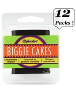 12 Packs Quartet Alphacolor Concentrated Tempera Biggie Paint Cakes BLAC... - $19.99