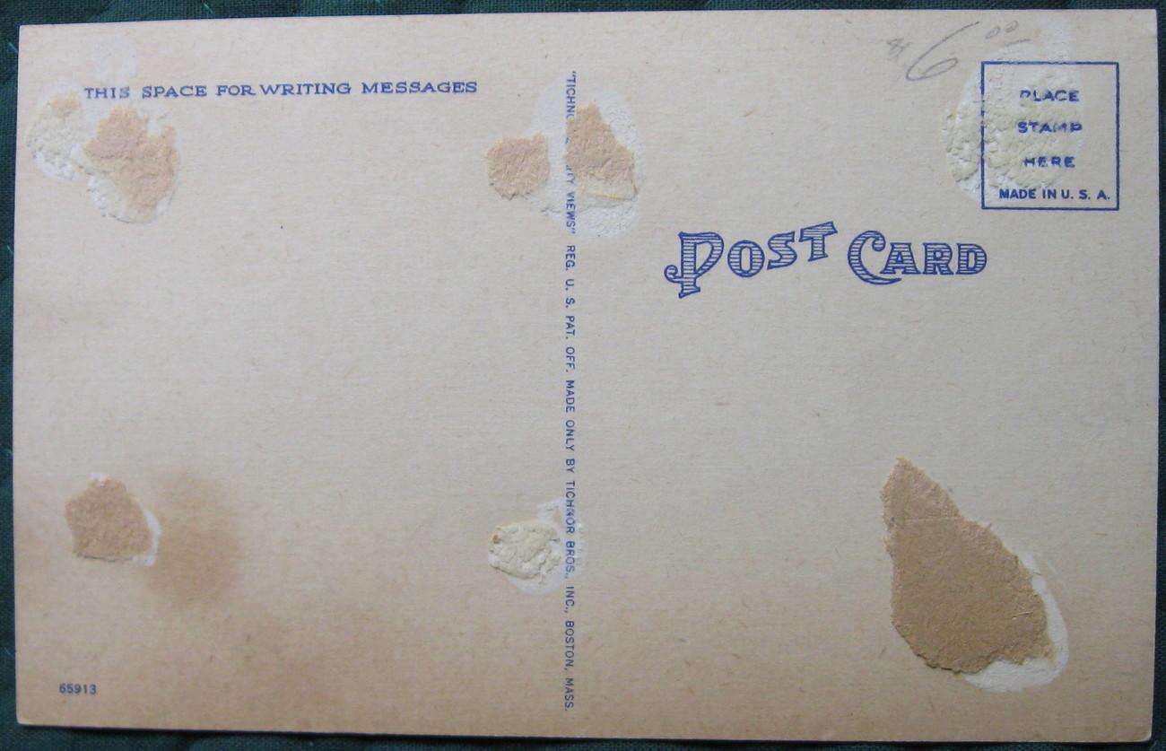 Tichnor, Full Bleed, Linen Postcard, Davis Island, Tampa, FL