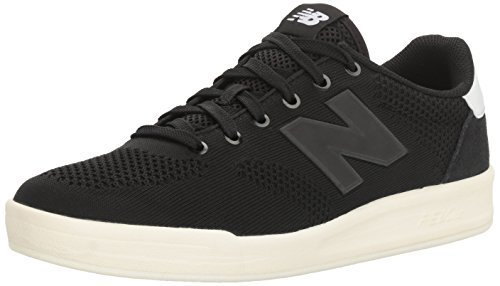 New Balance Men's 300 Lifestyle Court Shoe Fashion Sneaker, Black/Charcoal, 10.5