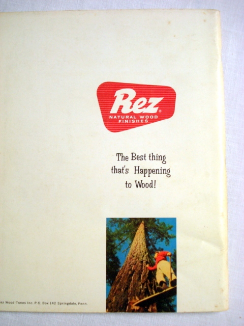 Beautiful Wood Creations For Your Home 1960's Softcover Rez