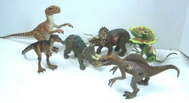 Lot Of 6 JP Jurassic Park Action Figures - Hasbro - 1997 To 2000 - Dinos... - $44.88