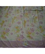 DISNEY FARIES TINKERBELL PIXIE 1 TWIN FLAT SHEET BEDDING GREAT FABRIC MA... - $16.88