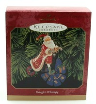 1999 HALLMARK ORNAMENT KRINGLE'S WHIRLIGIG - SANTA ON BICYCLE image 2