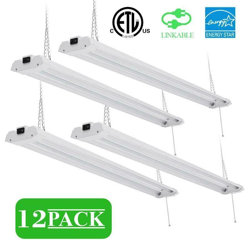 Primary image for 40W Garage, Shop Ceiling Light LED Super Bright 5000K with Plug, Linkable