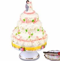 3-tier Wedding Cake Set 1.718/6 Reutter French Rose Dollhouse Miniature - $27.21