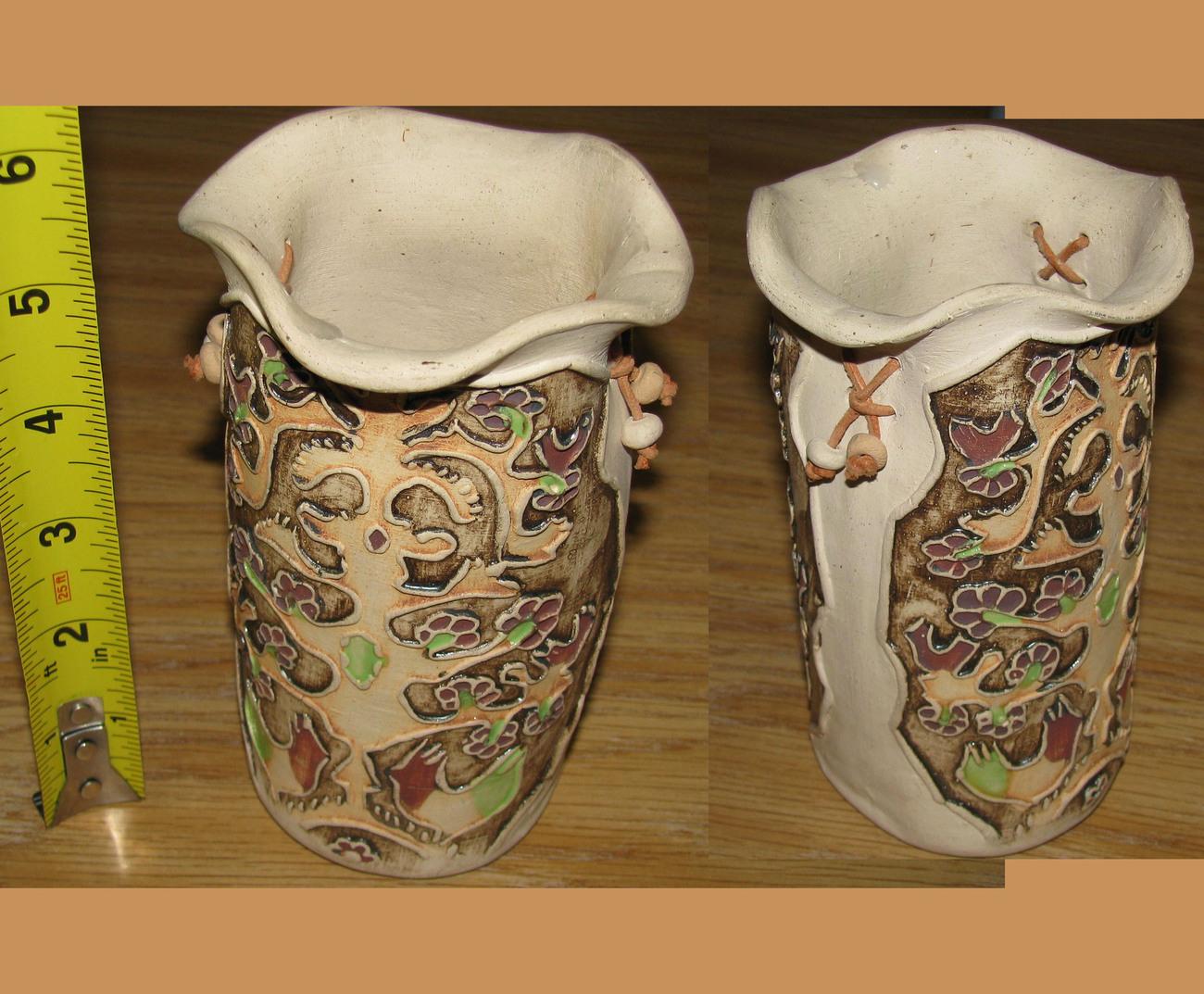 1 mucu gres vase from merida venezuela