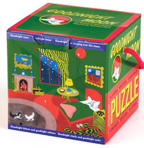 "Goodnight Moon Mini Cube Jigsaw Puzzle by Mudpuppy 36 Pieces 16"" x 16"" (... - $8.90"