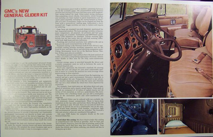 GMC General Glider Kit Road Tractors & Trucks Brochure - Full Color