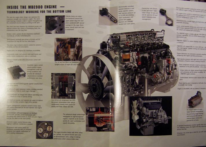 1999 Mercedes Benz MBE900 Diesel Engines/Sterling Acterra Trucks Brochure