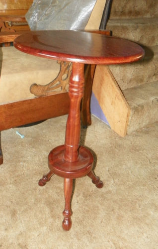 Solid Walnut Plant Stand Side Table