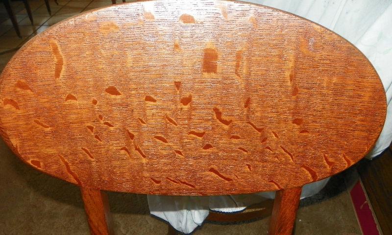 Unique Quartersawn Oak Desk Chair Sidechair