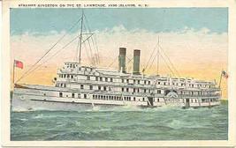 Steamer Kingston On The St Lawrence River Vintage Post Card - $6.00