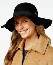 Nine West Bow & Grommet Floppy Hat (Black) - $44.43