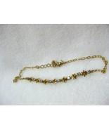 AVON Rhinestone Birthstone Flower Anklet Topaz ... - $4.99