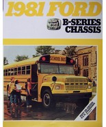 1981 Ford B-Series School Bus Chassis Brochure - $9.00