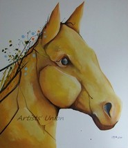 Modern Spring Horse Original Oil Painting Contemporary Art Abstract Big ... - $340.00