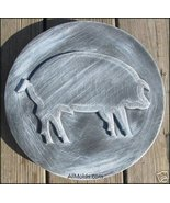 Pig concrete plaster cement stepping stone mold - $22.00
