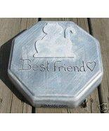 Cat Pet Grave Marker concrete plaster  cement mold - $26.95