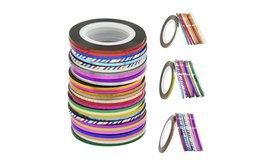 Nail Art Sticker Rolls 30Pcs Mixed Color Rolls Striping image 2