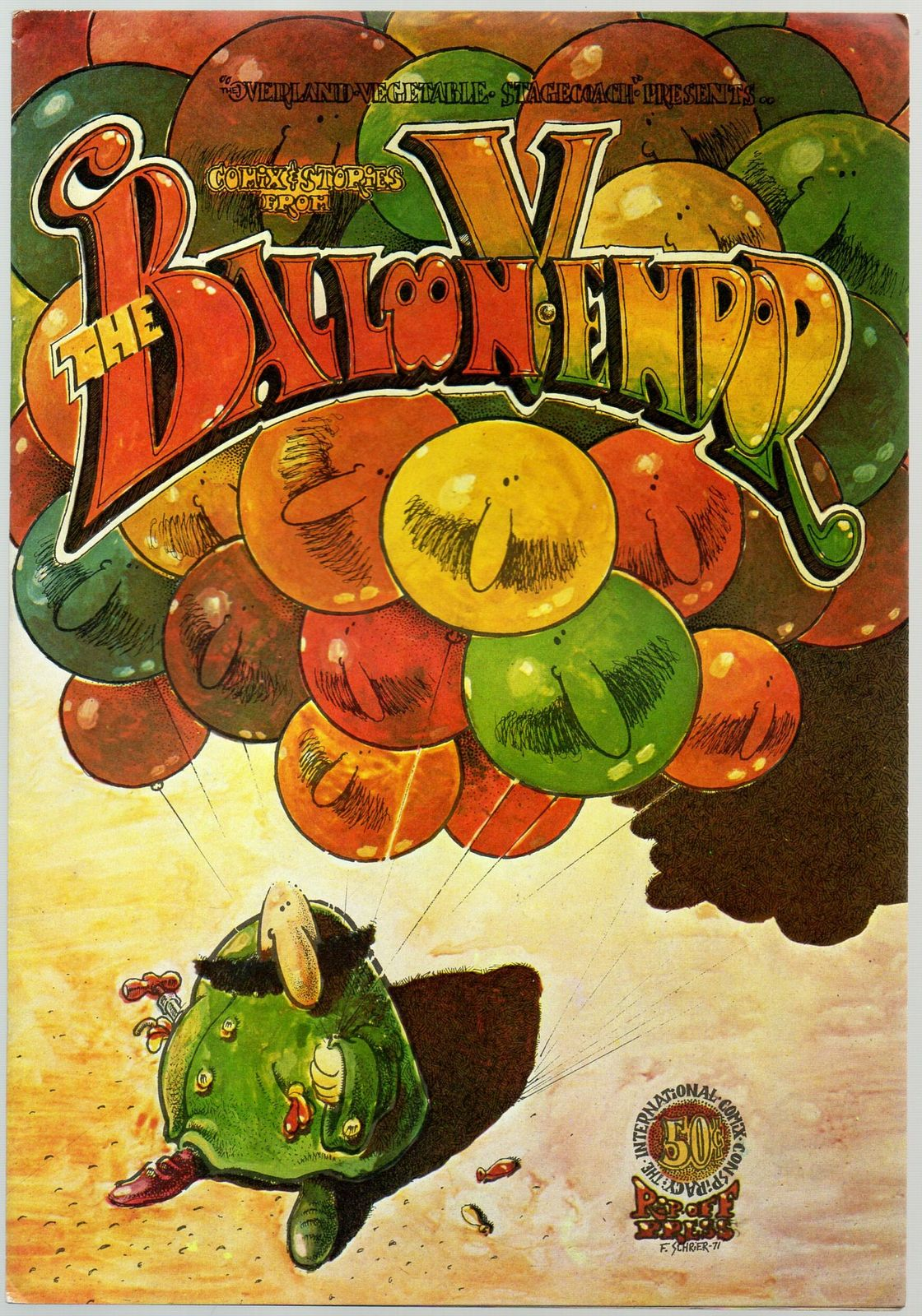 Balloon Vendor 1971 Rip Off Press underground comix Dave Sheridan, Fred Schrier