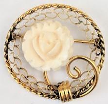 Vintage Carl Art Brooch - Gold Filled Floral Brooch Pin - $29.00