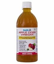 HealthVit Apple Cider Vinegar with Mother Vinegar, Raw, Unfiltered 500 Ml - $26.17