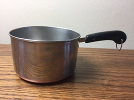 Vintage REVERE WARE Copper Clad Stainless Measuring 1 Cup Pot Butter War... - $9.49
