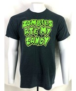 """HALLOWEEN ADULT """" ZOMBIES ATE MY CANDY """"  T-SHIRT M L XL 2XL FREE SHIP - $9.99"""