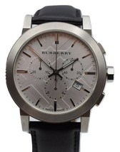 Burberry Chronograph Leather Silver Dial Men's Watch BU9355 - $147.51