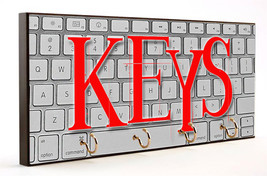 Computer Keys Wooden Key Hanger - $27.67