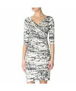 Women's Gray Diane Von Furstenberg Bentley SJ 3/4 Dress sz 2 - $163.51