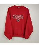 VINTAGE Logo 7 Mens Nebraska Cornhuskers Sweatshirt XL Extra Large Red U... - $34.12