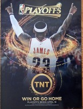 NBA Playoffs, print ad. full page color illustration (2010 TNT, win or g... - $14.84