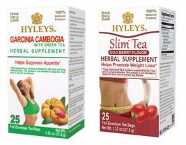 Hyleys 100% Natural Slim Tea Garcinia and Goji Flavor (25 Teabags each) - $12.99