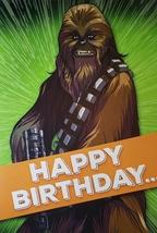 "Star Wars  Chewbacca  Greeting Card Birthday  ""Happy Birthday"" - $3.89"
