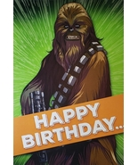 "Star Wars  Chewbacca  Greeting Card Birthday  ""Happy Birthday"" - $3.89"