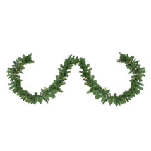 "9' x 10"" Northern Pine Artificial Christmas Garland Warm Clear - tkcc - $93.95"