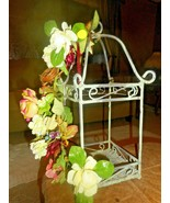 Metal Open Birdcage Flower Arrangement/Candle Holder/Flowers attached to... - $19.79