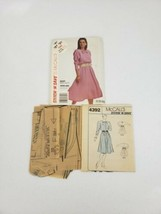 McCall's 4392 Easy Sewing Pattern Misses Dress & Belt Size A 8 10 12 Pet... - $14.99