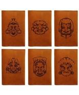 African Art Face Handmade Genuine Leather Passport Holder Case HLT_01 - $25.99
