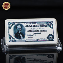 WR United Sates 1891 Treasury Note 500 Dollars Colored Silver Bar Collec... - $4.99