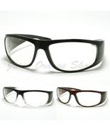 Mens Biker Eyeglasses Clear Lens Motorcycle Riding Glasses - $8.95