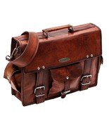 Men's Genuine Leather Vintage Laptop Handmade Briefcase Bag Satchel Mess... - $62.36