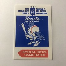 MLB Major League Baseball Kansas City Royals Team Season Schedule Vintage 1979 - $148.49