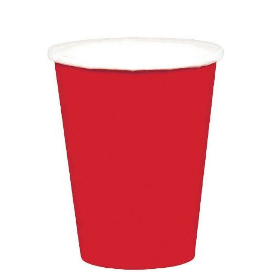 Apple Red 20 Ct Paper 9 oz Cups Christmas