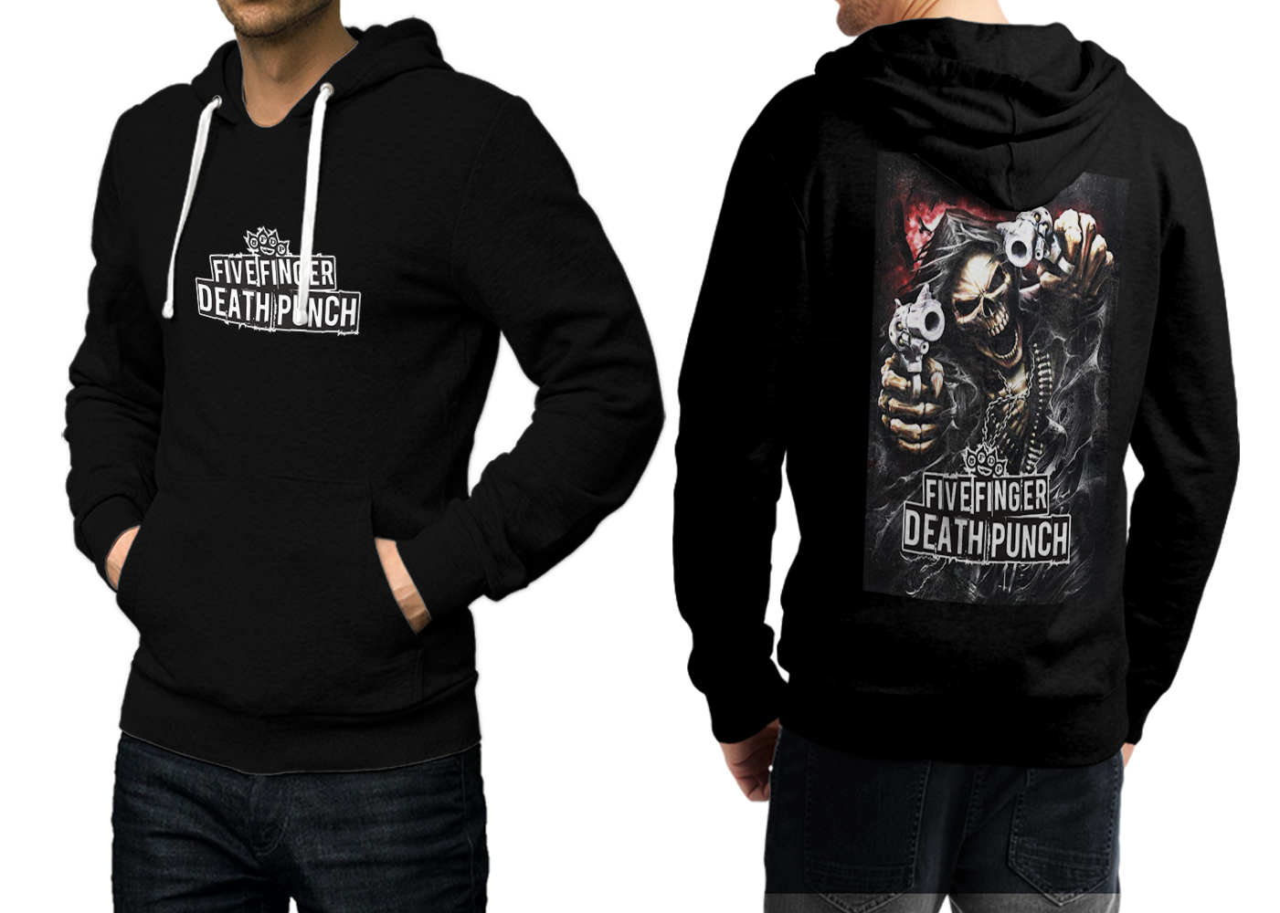 Primary image for 5 finger death punch Black Cotton Hoodie For Men