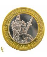 Merlin Excalibur Casino Gaming Token .999 Argent Édition Limitée - $59.34